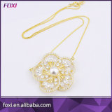 Wholesale Gold Plated Fine Zirconia Pearl Necklace Jewelry Foxi Manufacturer China