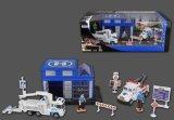 Die Cast Metal Car Play Set Toy-P/B Police Play Set Three