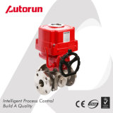 Chinese Wenzhou Supplier Explosion Proof Electric Flange Three Way Ball Valve
