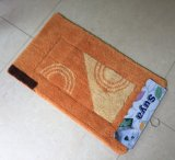 Tufted High & Low Pile Classical Border Microfiber Non-Slip Bath Mat