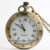 Classic Analog Simple Design Pocket Watch with Chain