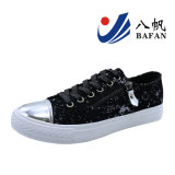 Lady′s Fashion Vulcanized Canvas Shoes Bf170140