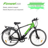 Hot Saled Men′s Cross Bar Electric Bike with Quick Release Battery
