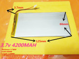 3.7V 4200mAh 3765125pl Lithium Ion Battery for Tablet PC, E-book