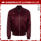 Fashion Burgundy Red Satin Bomber Jackets (ELTBJI-30)