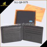 RFID Anti Blocking Thin Slim Leather Men Wallet with SD Slots