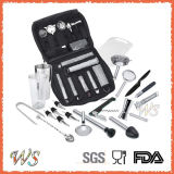 Ws-C36 Luxury Travel Bar Set with Canvas Bag