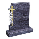 Granite Cross Rose Carving Design Cemetery Memorial Monument