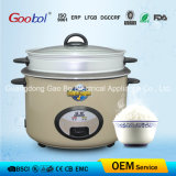Full Body Straight Rice Cooker with Steamer Golden Colour