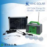 10W Portable Energy Saving Solar Kit Home Lighting System
