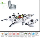 Kitchenware Tri Ply All Cald Stainless Steel Cookware Set