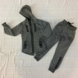 Fashion Boy Longline Tracksuits Clothes with Zipper Sq-6451