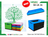 Plastic Foldable Logistic Tote Box with Lids