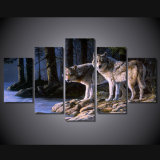 HD Printed Animal Two Wolves Painting Canvas Print Room Decor Print Poster Picture Canvas Mc-019
