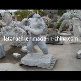 China Modern Art Grey Granite Stone Animal Sculpture for Outdoor