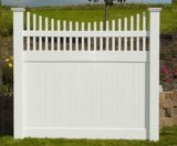 Vinyl Top Picket Garden Fence (DY004)