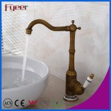New Brass Antique Basin Faucet Bathroom Counter Water Mixer Tap