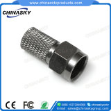 CCTV Coaxial Twist-on F Male Connector for Security Camera (CT5076)