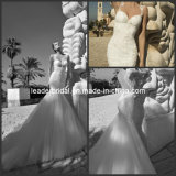 White Lace Bridal Gowns Bodice Layered Tulle Wedding Dresses W43