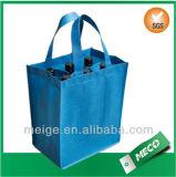 Free Shipping Custom 6 Bottle Non Woven Wine Bag (MECO494)