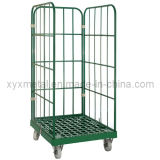 Large Steel Tube Roll Containers Cage Garden Trolleys
