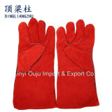 14 Inch Red Hand Safety Protection Leather Welding Gloves