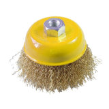 "4"" (100mm) Crimped Wire Steel Cup Brush with Nut"