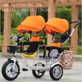 Hot Selling Twin Baby Tricycle Kids Tricycle