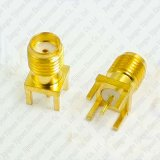 Golden SMA Female Jack Connector Straight End Launch Solder PCB Mount RF Connector Adapter