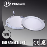 High PF 12W LED Panel Light with CE (Round)