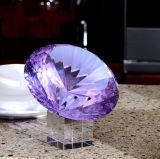Purple Crystal Diamond Craft for Wedding Gift
