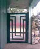 Uid-G011 Customized Wrought Iron Outside Gate Finished Surface Designs Gate