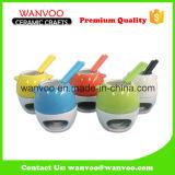 China Hot Sale Mini Ceramic Chocolate Fondue Pot