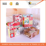 Christmas Carrier Shpping Handbagscosmetic Paper Printed Packing Case Bag
