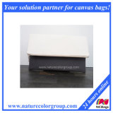 Grey and White Canvas Foldover Clutch, Zipper Clutch, Clutch Purse, Clutch Bag, Summer Clutch