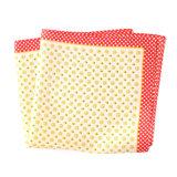Luxury Silk Polyester Dots Plaid Flower Printed Pocket Square Hanky Handkerchief (SH-110)