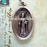St. Dymphna Holy Saint Medal Necklace, Baptism Gift, Catholic Religious Items