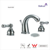Double Handle Brass Bathroom Accessories Basin Faucet Certificated