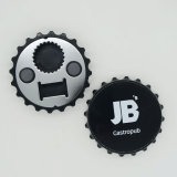 Colorful Factory Custom Magnetic Round Plastic Water Bottle Opener