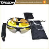 Tactical Military UV400 Goggles Sunglasses Protective Riding Glasses 3 Lens