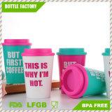 12oz Single Wall Plastic Coffee Mugs with Lid
