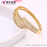 New Xuping Fashion 18k Gold Color Big Thick Zircon Bangle