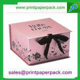 Paper Packaging Box with Ribbon and Tissue Paper Inserts