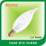 CA26 E12 flame incandescent bulb