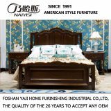 American Country Solid Wood Frame Bed for Hotel Furniture as-821