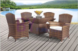 Patio Garden Outdoor Furniture with Glass Square Table and Chair