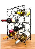 Modern Scroll Art Design 12 Bottles Metal Wine Rack