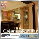 Imperial Beige Marble Pillar/Column for Five-Star Hotel Project