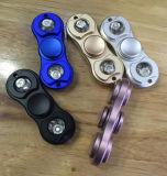 2017 Hot Sale Ceramic Bearings Finger Toy Hand Spinner Fidget Spinner Alunimun Alloy LED Flashing Fidget Spinner
