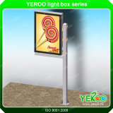 Outdoor Double Sided Aluminum Lamp Pole LED Ads Light Box